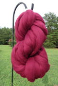 Burgundy Wine Wool Top Roving Fibre Spinning, Felting Crafts USA