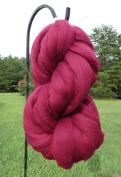 Burgundy Wine Wool Top Roving Fibre Spinning, Felting Crafts USA