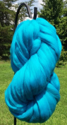 Teal Blue Wool Top Roving Fibre Spinning, Felting Crafts USA
