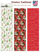 Premium Christmas Gift Wrap Timeless Traditional HEAVEY WEIGHT THICK Wrapping Paper for Men, Women, Boys, Girls, 3 Different 4.6m X 100cm Rolls Included Xmas Trees, Reindeer, Santa, Christmas Wishes