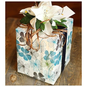 Western Promotions Blooming Wrap Plantable Wrapping Paper, Floral Lines