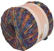 Twinkly Glitz Trail Trellis Yarn 150 Yrds #910 Purple Brown with Lurex
