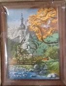Church - Gobelin Tapestry Needlepoint Kit Half Cross Stitch Kit with Wood Frame