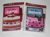 2 Cake Boss Small Writing Journals with Pens bundle