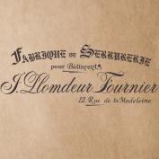 J BOUTIQUE STENCILS Fabrique de Serrurerie Stencil for Painting Signs Crafting DIY Wall decor - Artistic stencil