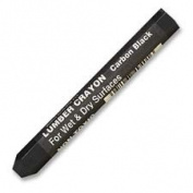 Lumber Crayons, Fade Proof, 10cm - 1.3cm x 1.3cm , Carbon Black, Sold as 1 Dozen, 12 Each per Dozen