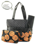 Monogram Ready Quilted Basketball Sports Print (Colour