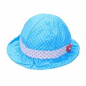 Summer Baby Girl Sun Bucket Polka Dot Bow Ruffle Hat