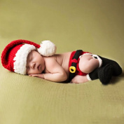 Feiuruhf NewBorn Baby Christmas Hat and Underwear Photography Photo Props