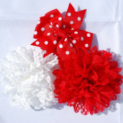 Flower Headbands Baby Headbands Kids Hair Accessories Flower Hair Bands White Red Hairbands Girls Hair Accessories Baby Head Bands Flower Girl Hair Accessories Lace Alice Bands Baby Bow Baby Hair Bow