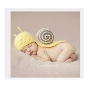 Hand Made Cute Snail Baby Clothes Infant Newborn Baby Girl Boy Crochet Beanie Hat Clothes Baby Photograph Props