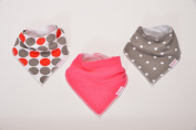 Cute Baby Bandana Drool Bibs for Girls, Extra Absorbent Organic Cotton, Dual Snaps Grows with Baby