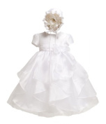 KID Collection Baby-Girls Handkerchief Tiered Dress by Kid Collection