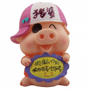 Cute Hat McDull Pig Shaped Piggy Bank Wedding Xmas Christmas Birthday Valentine Gift
