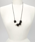 POLY TEETHING NECKLACE - BLACK & WHITE