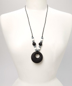PIPER TEETHING NECKLACE - BLACK & WHITE