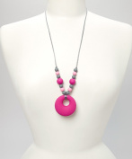 PIPER TEETHING NECKLACE -PINK, GREY & BUBBLE GUM PINK