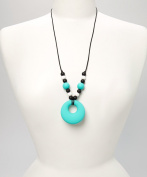 PIPER TEETHING NECKLACE - TURQUOISE, BLACK & WHITE
