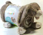 Little Miracles Baby Blanket & Plush Brown Bunny Rabbit Snuggle Me Sherpa