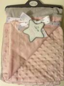 Little Star Grey & Pink Patchwork to Mink Super Soft Baby Blanket