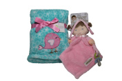 Plush Baby Blanket with Pacifier Holder Nunu Bundle of 2