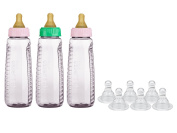 Gerber First Essentials Clear View BPA Free Plastic Nurser with Latex Nipples & Silicone Nipples