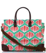 NGIL Scallop Print Large Shopping Tote Bag