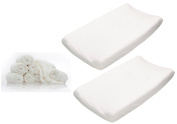 Summer Infant Ultra Plush Change Pad 2-Pack with Reusable Bamboo Wipes, White