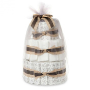 Ultra Absorbent, Hypoallergenic, Extra Soft, Non-Toxic, Mini Nappy Cake In Rockstar