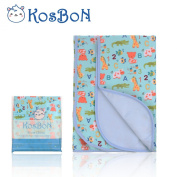 Kosbon Extra Large (100cm x 80cm ) Infant Baby Deluxe Flannel And Bamboo Fibre Cotton Change Pad,Waterproof Cartoon Pattern Nappy Changing Pad For Home And Travel