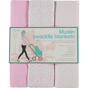 Lollypop Three Pack of Muslin Swaddle Blankets