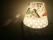 A.Shine Yellow Small Cutout Butterfly Ceramic Night Lights, Children's Night Lamp, Home Decor