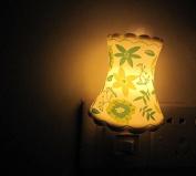 A.Shine Green Leaf Small Ceramic Night Lights, Night Lamp, Nature Decor, Home Decor