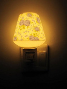 A.Shine LED Small Ceramic Night Lights, Night Lamp, Warm Yellow Light Baby Bedroom Bedlamp