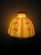 A.Shine Yellow Elegant Antique-Style Ceramic Night Light NightLight Plug in Wall Lamp