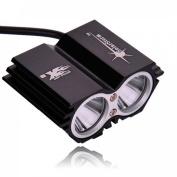 1Pcs Famous Popular 4-Modes 2xLED Bike Light 5000 Lumen Flashlight Headlamp Front Torch Colour Black