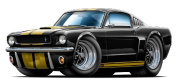 1965-66 Ford Musyang Shelby GT350H Hertz Large 1.2m long Wall Graphic Decal Sticker Man Cave Garage Decor Boys Room Decor