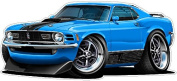 1970 Ford Mustang Mach 1 60cm x 120cm (1.2m Long) Wall Graphic Decal Sticker Man Cave Garage Decor Boys Room Decor