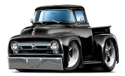 1956 Ford F100 Pickup Truck Wall Graphic Decal Sticker Man Cave Garage Decor Boys Room Decor