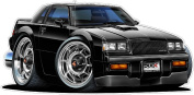 1987 Buick Grand National 1.2m Long Wall Graphic Decal Sticker Man Cave Garage Decor Boys Room Decor