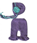 Pinbo Baby Girls Photography Prop Crochet Knitted Flowers Hat Pants