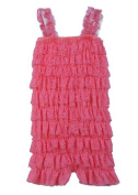 The Hair Bow Company Girl's Baby & Toddler Lace Tiered Ruffle Petti Rompers