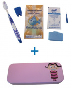 Flossfish - Orthodontic kit and pink case with Girl