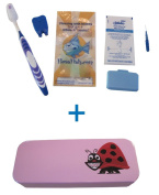 Flossfish - Orthodontic kit and pink case with Ladybug