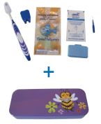 Flossfish - Orthodontic kit and Purple case with Bee