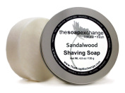 Sandalwood Shaving Soap - 130ml - Artisan Shave Soap by The Soap Exchange