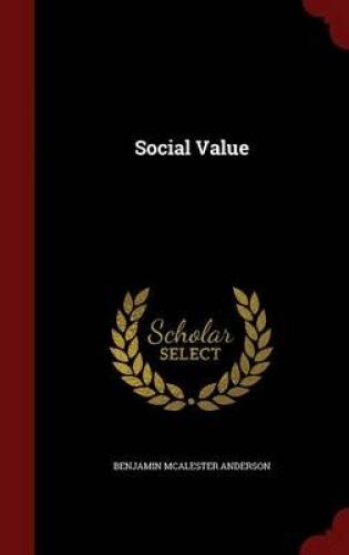 Social-Value-by-Benjamin-McAlester-Anderson