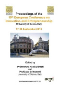 Ecie Proceedings of the 10th European Conference on Innovation and Entrepreneurship