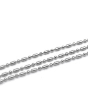 VALYRIA 9.8m Silver Tone Stainless Steel Ball Chains Findings 1.5mm