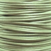 "#49 Metallic Shell Round Leather Cord 1mm (1/32"") x 10 m"